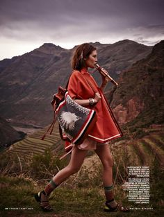 catherine mcneil photo shoot9 Catherine McNeil Heads to Peru for Vogue Russia by Mariano Vivanco
