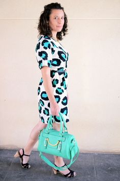 Mi Vestido Azul |Fashion Blogger | Green animal print | http://mivestidoazul.com