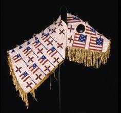 Native American beaded horse masks Fully Beaded Hose Mask, Teton Sioux, ca 1900 hide, glass beads.