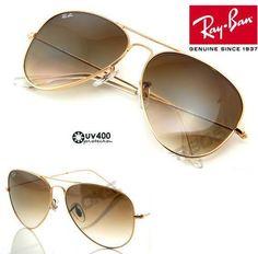 Óculos de sol Ray ban Aviador Marrom degradê