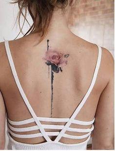 Resultado de imagem para rose tattoo women back real