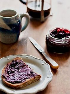 Recipe for Blueberry Lavender Rhubarb Jam »» Healthy Green Family