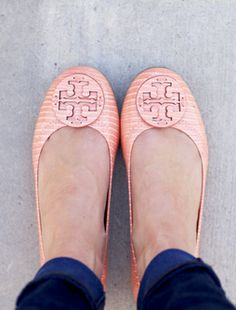 the prettiest pink flats we ever did see