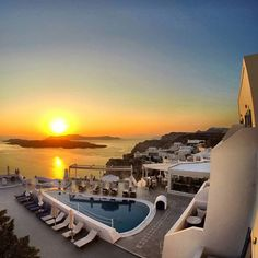 Santorini Hotel Volcano View, a 5 star hotel in Santorini,Fira.The largest Santorini hotel,recognised as the most easily accessible of Caldera Santorini Hotels. Fira Santorini, Santorini Hotels, 5 Star Hotels, Volcano, Vacations, Greece, Paradise, Friday, In This Moment