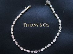 "Tiffany & Co Platinum Swing Diamond Tennis Bracelet 7"" 1.60CT | eBay"