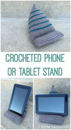5 Little Monsters: Crocheted Phone or Tablet Stand