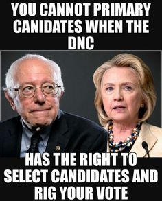 The DNC backed and rigged the primaries for the weaker candidate = TRUMP