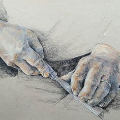 Com Hand study in pastel crayon. Now on to feet! Feet Drawing, Pastel Crayons, Figure Drawing, My Drawings, Anatomy, Study, Photo And Video, Black And White, Instagram