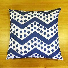 Chevron and dolka dot cushion cover
