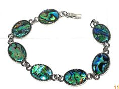 """Abalone+Shell+Oval+Shaped+Bracelet++7+1/2""""+long++#abalone+#Chain http://stores.ebay.com/JEWELRY-AND-GIFTS-BY-ALICE-AND-ANN"""