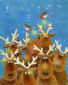 Reindeer Illustration by Jan Pashley