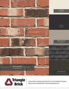 house exterior colors that go with orange brick House Exterior Color Schemes, Exterior Paint Colors For House, Paint Colors For Home, Exterior Colors, Brick Paint Colors, Brick House Colors, Red Brick Paint, Exterior House Colors Combinations, Exterior Shutters