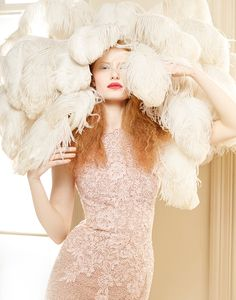 Red-haired beauty Stephanie Hall is photographed in a fairytale and dreamlike…