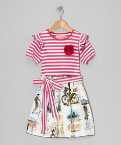 http://www.zulily.com/invite/vhanson979 Take a look at this Pink Vivienne en Paris A-Line Dress - Toddler & Girls by Wonder Me on #zulily today!