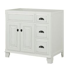"""View the Sagehill Designs VQ3621D Victorian 36"""" Wood Vanity Cabinet Only at Build.com."""