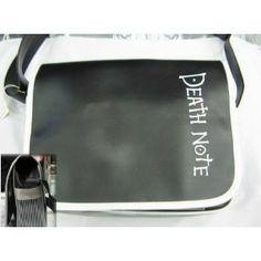 Death Note  fashion Signature-logo backpack black version
