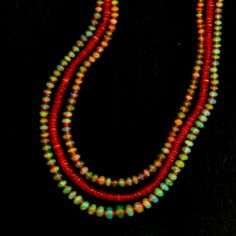 Ethiopian opals with Mexican fire opals