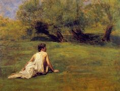 thomas+eakins+paintings | Thomas Eakins - Thomas Eakins An Arcadian Painting