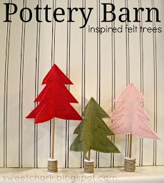 Sweet Charli: Pottery Barn Inspired 3D Felt Christmas Trees