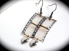 The Film Lover's Earrings Film Strip Earrings with by InGodsHands