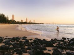 Burleigh Heads on the Gold Coast. Click the image for some Insider Tips Days Of The Year, Tourist Spots, Gold Coast, Beautiful Beaches, Cool Pictures, Coastal, Surfing, National Parks, Australia