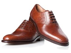 Reptilienleder Schuhe in Braun - No. 492 Ausgefallene Schuhe: Amazon.de: Schuhe & Handtaschen