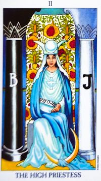 High Priestess Tarot Card Meanings Keywords    Upright: Intuition, Higher powers, mystery, subconscious mind    Reversed: Hidden agendas, need to listen to inner voice
