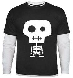 Camiseta chico con ilustración del esqueleto