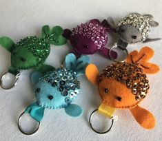 Sequinned felt fish keyring £8.00 Sewing Projects For Kids, Sewing Ideas, Felt Keyring, Felt Fish, Sewing Stuffed Animals, Pond Life, Little Fish, Purple Teal, Hand Embroidery Stitches