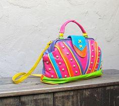 Color Block Doctor Bag Purse