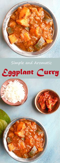 This simple recipe for Eggplant Curry is the perfect dinner recipe. If you are looking for vegan dinner ideas or vegetarian dinner ideas, try this delicious version of the traditional Indian recipe for Baingan bharta. My idea of comfort food Vegetarian Comfort Food, Vegetarian Dinners, Vegan Dinner Recipes, Brunch Recipes, Indian Food Recipes, Vegetarian Recipes, Comfort Foods, Vegan Blogs, Vegetarian Brunch