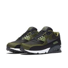 brand new 4580e 36741 Buy the latest Nike Air Max 90 Premium Black Legion Green Palm  Green Anthracite Mens Shoes   Trainers, shop offers fast worldwide shipping.