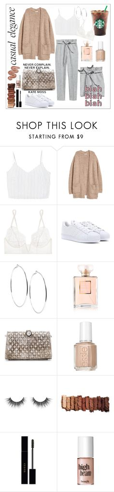 """""""casual elegance"""" by misstoffyy on Polyvore featuring MANGO, La Perla, adidas Originals, GUESS, Chanel, From St Xavier, Essie, Urban Decay, Gucci and Benefit"""