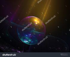 Abstract Crystalline Shine  Ball - Fractal Art