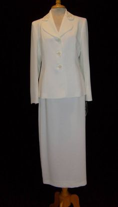 Size 8 Le Suit Skirt Suit Ivory Nwt Occasion Mother of the Bride Long Skirt   eBay