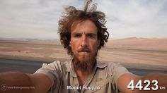 Christoph Rehage spent a year walking across Asia and Europe. He ended up crossing 4,646km of mountains and desert on foot, taking hundreds of self-portraits in the process—it's those portraits that comprise this time-lapse video.
