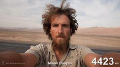 Más de 4.500km caminando por China #timelapse