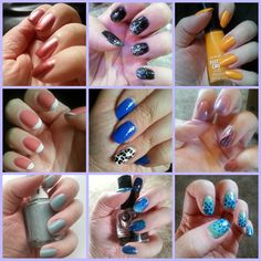 My favourite nail designs and colours that I've created this summer!