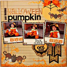 Halloween Pumpkin (Unity Stamps) by Jennifer R - Cards and Paper Crafts at Splitcoaststampers Theme Halloween, Halloween Scrapbook, Halloween Cards, Halloween Pumpkins, Fall Halloween, Halloween Templates, Haunted Halloween, Disney Halloween, Halloween 2018