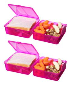 Another great find on #zulily! Pink Lunch Cube - Set of Two #zulilyfinds