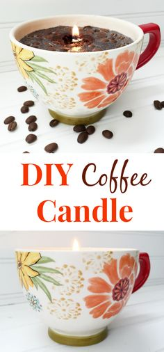 DIY coffee candle - lemons, lavender & laundryCandles are a great way to create a welcoming home. Here's how to make your own!DIY Coffee Candle - Lemons, Lavender and Laundry Candles are a great way Homemade Candles, Scented Candles, Homemade Gifts, Homemade Coffee Candle, Aromatherapy Candles, Chandeliers, Crafts To Make, Diy Crafts, Simple Crafts
