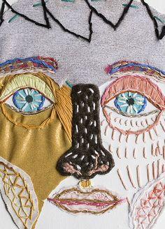 Felipe - edo morales Textiles, Fabric Art, Creative Inspiration, Embroidery, Face, Vogue, Portraits, Visual Communication, Needlepoint