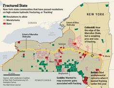 Fracking going local. WSJ map via @revkin on which communities have given fracking the green light.