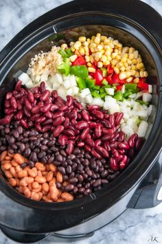 Slow Cooker Three Bean Chili - double the spices and make sure you salt!