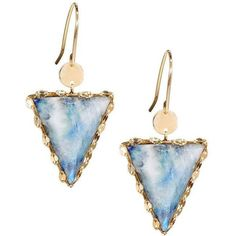 Lana 14k Mesmerize Triad Moonstone Drop Earrings ($480) ❤ liked on Polyvore featuring jewelry, earrings, no color, lana jewelry, 14k earrings, lana earrings, 14 karat gold jewelry and polish jewelry