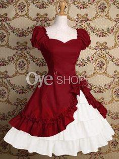 A-line-Sweetheart-Sleeveless-Cotton-Lolita-Dress.jpg (300×400)
