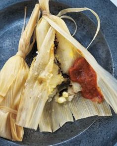 Chicken Tamales with Salsa Roja Recipe