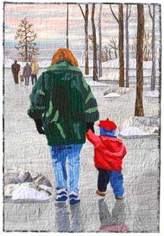 Art Quilt by Nancy Bergman - Slippin and Slidin