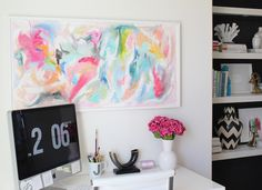 colorful acrylic happiness... paintings by jen ramos.