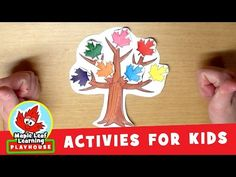 Make a Tree Activity for Kids   Maple Leaf Learning Playhouse - YouTube